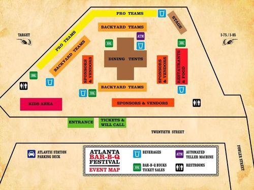 BBQ festival map